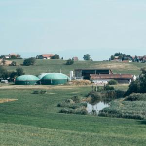 vue de la centrale Biogaz du Mouret
